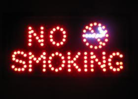 ป้ายไฟ LED  NO SMOKING