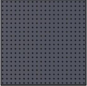 Metal Steel Pegboard Size 50x50 cm. ,thick 1.2mm. Black color