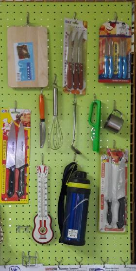 Metal Steel Pegboard Size 50x100 cm. ,thick 1.2mm. Green color